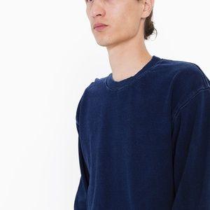 NWT AA Indigo Terry Crewneck Pullover Sweatshirt